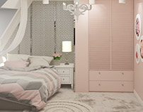 Girl room in pink
