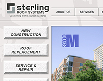 Website & Branding • Sterling Roof Systems