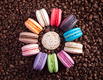 cooffee and macarons - retouch