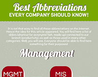 Best Abbreviations Every Company Should Know!