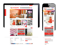 Asian paints Ecommerce Visual design