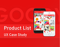 UX Case Study for Goody Product List