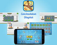 Cans knockdown Game