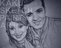 Delhi Pencil Sketch Portrait Artist, KAKU SKETCH PAINT