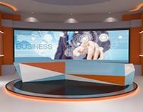 3D Set for Business News (Virtual)