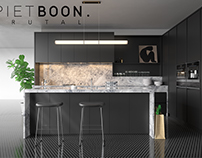 Piet Boon kitchen | 3ds Max modeling | Corona render |