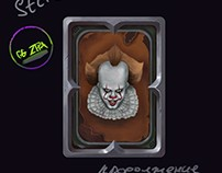 Pennywise clown in card