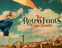 The Retro Fonts Giga Bundle: 94 Families & 526 Fonts