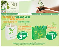 Eco bags landing page