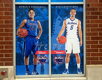 DePaul Men/Women's Basketball Window Banners