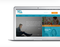TCL education website design