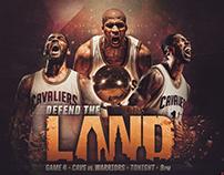 2016 NBA Finals Game 4 Matchup Graphic