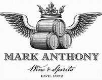 Mark Anthony Wine & Spirits Illustrated by Steven Noble