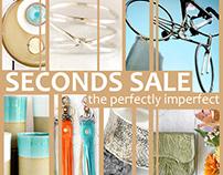 Marketing Design Riverside Studios Seconds Sale.