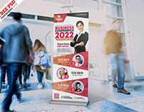Business Seminar Rollup PSD Template