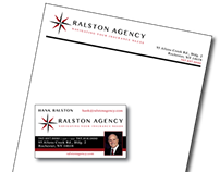 Ralston Agency Logo + Stationary Redesign