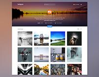 Instagarm Profile Page Concept