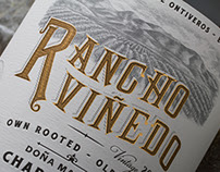 Rancho Viñedo Wine Labe Illustrated by Steven Noble