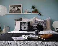 Il letto bianco e nero