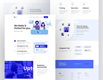 Upto landing page concept - Free Template.