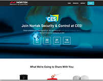 Nortek CES 2017 one page website