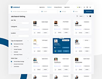 Minimal Dashboard Design for JobDeal