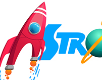 Logo and G. Design for a Cartoon Tv Series ASTROBALDO.
