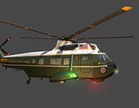3D Game Assets: Marine Helicopter (Animated)