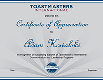 Toastmasters Certificates