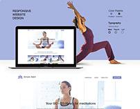 Yoga Responsive Website Design Concept