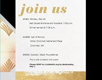 Elegant Animated Evite/Invitation for Gala 2019
