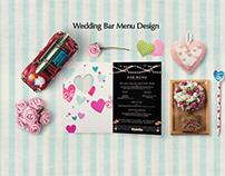Wedding Bar Menu Design.