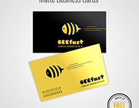 Matte Business Cards Mock Up FREE DOWNLOAD