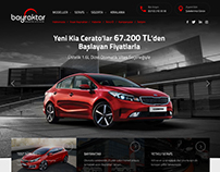 Bayraktar KIA Dealer Web Design