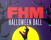 FHM Halloween Ball Poster