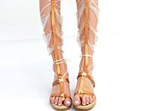 Iridescent Gladiator Sandals