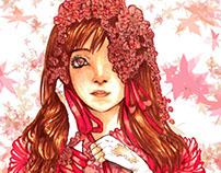 Roses Copic Marker Illustration