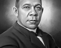 Booker T. Washington Digital Art by Wayne Flint