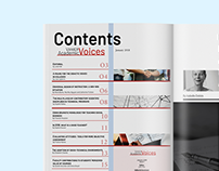 Vanier Academic Voices - magazine
