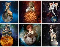 Surreal/Vintage Zodiac Signs (Horoscope)