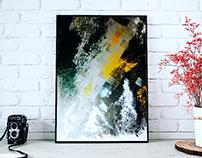 Autumn oil paint on canvas