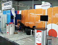 Perforce Tradeshows: booths, roller banners