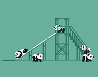 Baby Panda Slide - Animated Gif