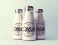 Realistic Milk Bottle Mock-Up
