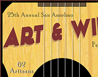 25th Annual Art & Wine Poster