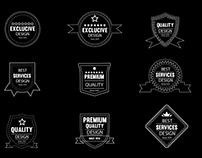 Free Vector Outline Badges