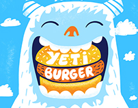 Yeti Burger Menu Design