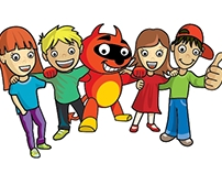 """The little Devil"" mascot for kids camps Tabory.cz"