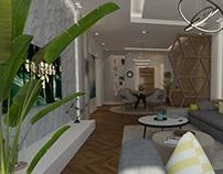 modern apartment reception