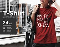T-Shirt Mock-Up Urban Style